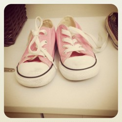 Look at Chelsea's cute little Converse shoes.  (Taken with instagram)