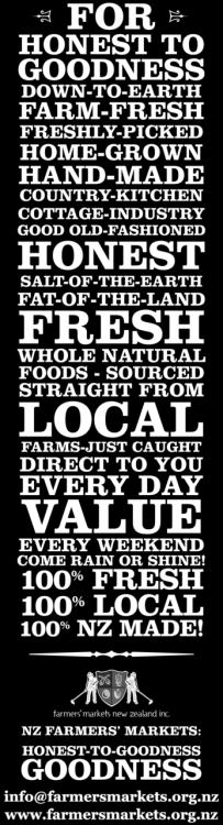 Choose to shop at your local greengrocer, farmers market, butcher, office supplies store, fashion boutique (you get the picture) rather than the big companies. Quite often, you'll receive better quality products at better prices and you'll be supporting your local business owners rather than lining the pockets of the faceless Fat Cats. Image courtesy of Farmers' Market NZ Inc