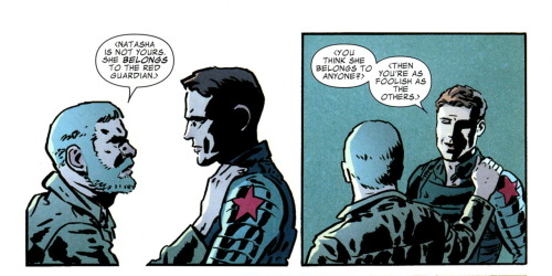 [Captain America & Bucky #624] Bucky knows what's up.