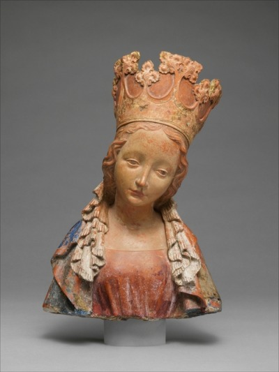 Bust of the Virgin, made in Bohemia, c.1390-95 (source).