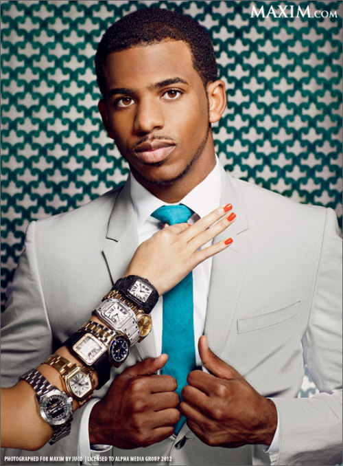 reveriesysuenos:  apparently cp3 has a watch obsession.. who knew?   CP3 looking dapper
