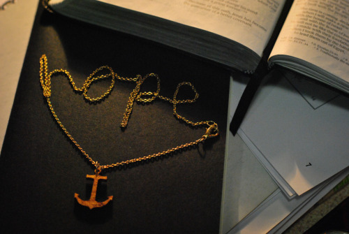 We have this hope as an anchor for the soul, firm and secure.Hewbrews 6:19   Taken by our very own Bobs :]