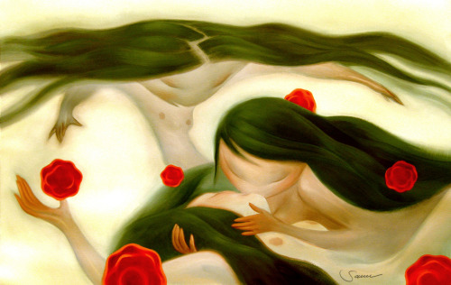 "Guilherme Jacinto: ""The Kiss"", 2009. 20″x30″, oil on paper."