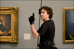 Well Look at him. He has no idea how to steal a painting properly!
