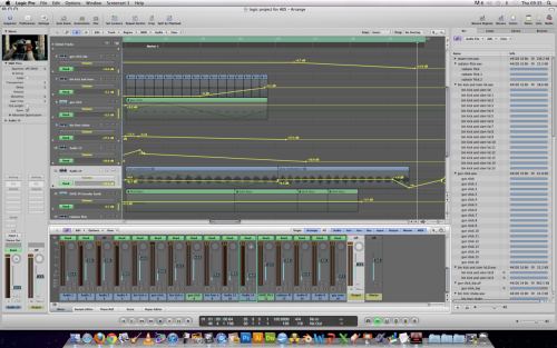 This shows the mixer for the track (the parts that i myself have executed) no clipping thus creating the desired effect despite some haphazard EQ'ing and automation. The key point is that the track feels solidly mixed. No clipping, no distortion, no omissions. Yes it took some time to cover the loss of Thomas but I believe it has been executed -Colin bunyan 12th Jan 2012, LMU Headingley-