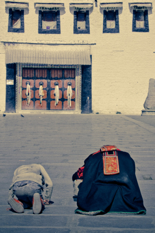 Prostrations at the Potala PalaceLhasa, Tibet2011