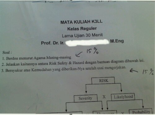 fuckyeahmahasiswa:  This is how i get 30 points of my total score. dari maulanagituri  Pasti soal no. 2 susah abis!