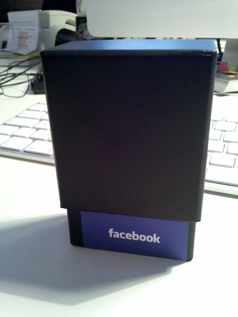 #Facebook #Moo card box (Taken with picplz.)