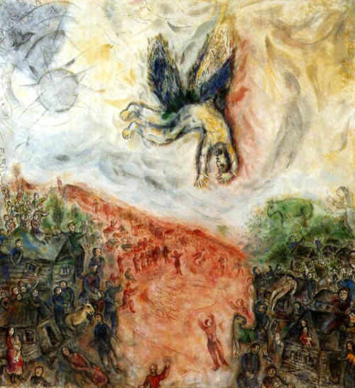alecshao:  Marc Chagall, The Fall of Icarus
