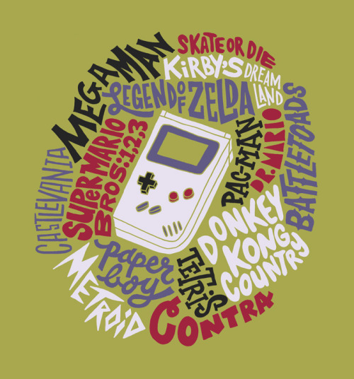 Ode to Gameboy illustration by Jay Roeder :: via jayroeder.com