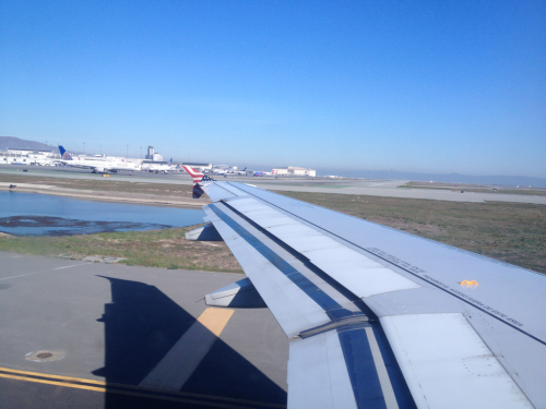 Looking back towards the Bay.   SFO.