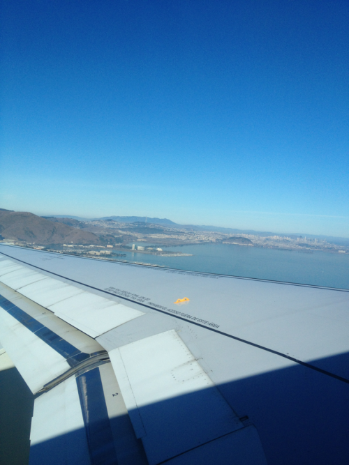 Looking north towards San Francisco.   SFO.