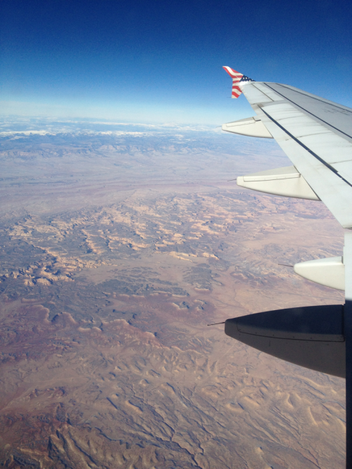 The deserts of Nevada are amazing from the air.   SFO.