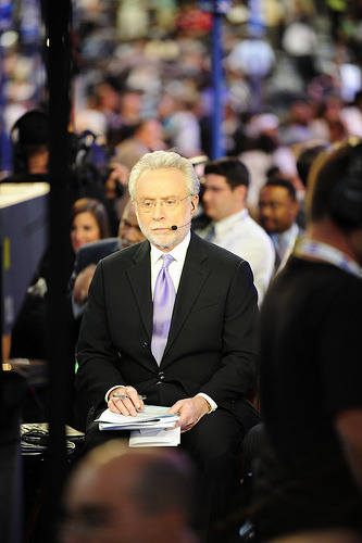 jayrosen:  Wolf Blitzer Contemplates a Lateral Move to the Greeting Card Industry From his essay, A salute to politicians: Mitt Romney, Rick Santorum, Newt Gingrich, Jon Huntsman, Ron Paul and Rick Perry could have taken the easy path and relaxed and enjoyed life. Instead of playing golf and hanging out with their children and grandchildren, they are working hard trying to get the Republican presidential nomination. In the process, they are bitterly attacked - often for good reason. Why do they do it? I know what they say. They say they are interested in public service and want to help the American people. They say they believe in what they are trying to achieve. The cynics say they have huge egos and are simply seeking power and glory. That is certainly true of some politicians. But having covered many of them over the years, I also know some are trying to do the right thing, and I salute them.  I think Erik Wemple of the Washington Post has it right. In this fourth-grade essay that Blitzer chose to share with us, the impression given is of fear. Fear of having an opinion, of offending anyone, of appearing to have any sharp thoughts of his own.  Meanwhile, may I just say this about CNN anchors like Blitzer? They could be out there chasing stories, digging up dirt, verifying rumors, bearing witness to ugly truths. But instead they're willing to endure the grind of well-paid air-conditioned studio-bound celebrity newsiness. Why do they do it? I've asked myself that many times, and after years of criticizing them I have come to what is perhaps a surprising conclusion. The cynics will say they love the attention, the make-up girl, the swirl of activity around them, their name on the show. Being recognized in airports and all that. Well, I disagree. They. Do. It. Be. Cause. They. Care. (Photo credit: studio08denver, Creative Commons License.)  AWESOME. I'd say that not everybody was born with John Stewart chutzpah. Some are merely sheep in Wolf's clothing. :)))