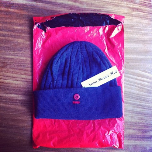 benjaminmichaelspenceley:  #offhand sewa beanie hat  (Taken with instagram)  A happy customer of our 1st product which sold out in half hour. Thank you all and we are now on with our next piece which may just coincide with the opening of our hard goods store, mixing vintage and the best in todays attire including our own brand and showcasing lesser known labels throughout the year - Offhand a new concept in marketing and your shopping experience. Look out for exclusive pictures of our store next week.