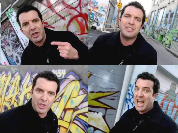 "Rick Mercer's rants damaging anti-graffiti cause: Mississauga councillorMississauga is grappling with a rise in graffiti on city property, and one councillor blames an unlikely culprit: CBC comedian Rick Mercer.Councillor Katie Mahoney says Mr. Mercer's famous rants along Toronto's graffiti alley, an area specially designated for that use, has damaged the anti-graffiti cause.""Rick Mercer needs to know that he's not doing anybody any good with his rants down the graffiti-tagged alley,"" Ms. Mahoney fumed during a city council meeting Wednesday, suggesting the Mercer rants may have unintentionally encouraged the spread of graffiti throughout Canada. (Photo: The Rick Mercer Report/CBC)"