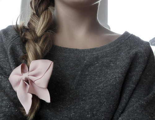 add a simple bow to your hair for instant fabulousity!