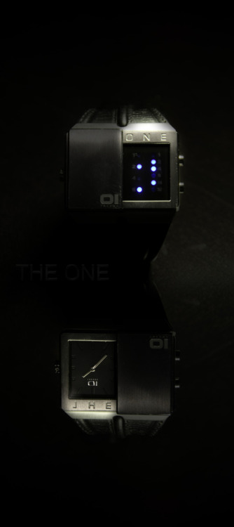 a Binary code watch