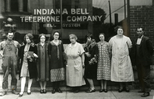 Indiana Bell Telephone Company employees, 1920s love us Ms Sassy McBrassy, fourth from the right
