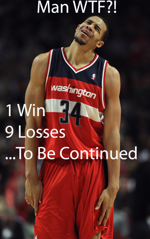 How it feels to be a Wizards fan.. 39% FG PCT a game, 15 Assist & 14 Turnovers a game, & only 83 PPG ..smh