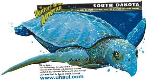 Believe it or not, the fossilized remains of the largest sea turtle that roamed the Earth was found in the grassy plains of South Dakota.  Click Here to Learn More