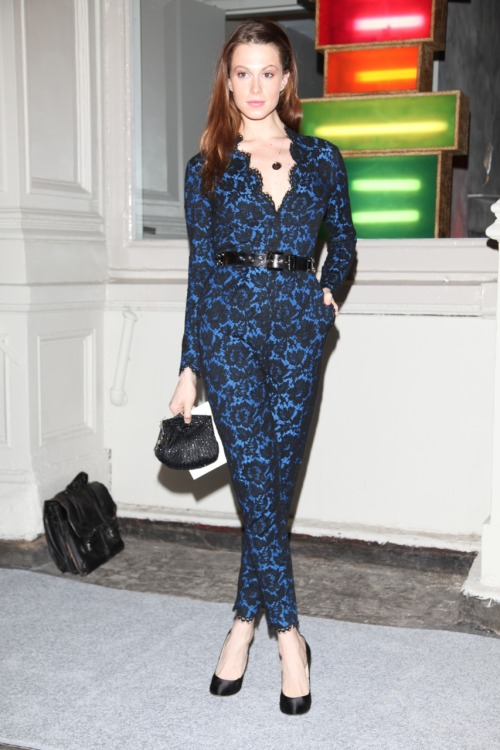 Celeb look of the day: Elettra Wiedemann wears a stunning lace jumpsuit by  Stella McCartney. Get the full fashion breakdown here »