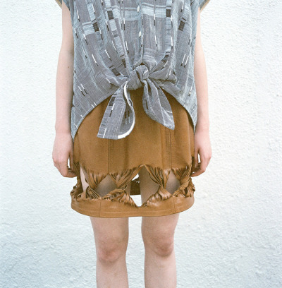 URSA MINOR STUDIO S/S2012 JUST LOOK AT THAT LEATHER SKIRT, GAH