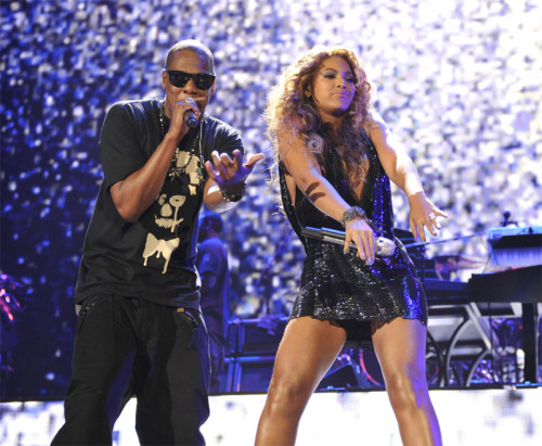 discoverynews:  Jay-Z and Beyoncé To Film Music Video in Space  They've already brought a new child into the world and purchased it a   $614,000 rocking horse made of gold, so it's only natural that pop  culture's favorite 1 percenters now plan to ascend into suborbital space  aboard Virgin Galactic and film the mother of all music videos. Or at least that's what record executives are thinking, according to MTV News.   They're going to space to film a music video?  A music video?!???!?!?! Of all the things. Good lord.  But at least it might attract more people to study science right? Thumbs up if that happens. :)