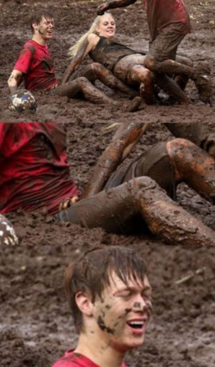 "collegehumor:  The Mud Pit of Love Well, at least ""material"" for later."