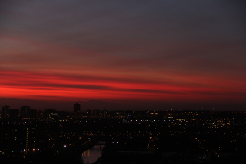 Sunset in Manchester- yeah I like the view from my balcony. (click to expand!)