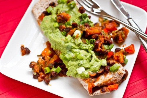 foodopia:  enchiladas with cilantro avocado sauce: recipe here