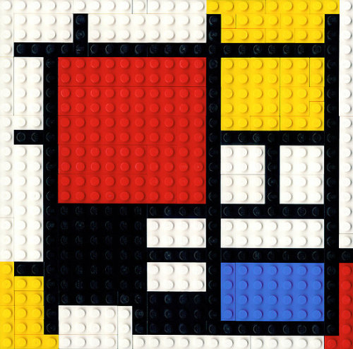 livetheoutdoors:  LEGOs and Piet Mondrain. Wooo mathematics in art!