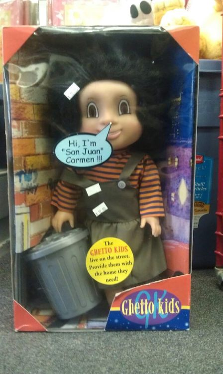 Ghetto kids doll (found in a thrift store) Who approved this idea?