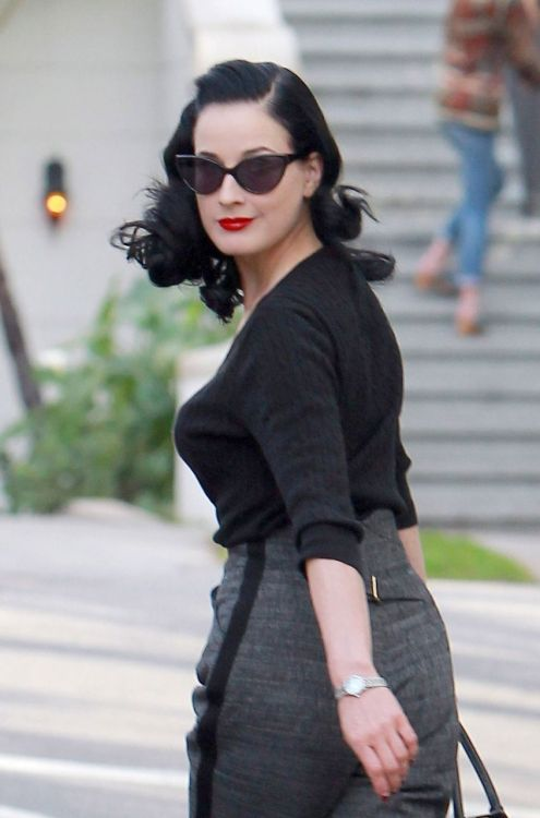 Dita Von Teese heads for an appointment - January 11, 2012.