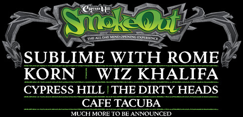 fueledbyramen:  Tickets to see Sublime With Rome headline the Smokeout Festival this spring are on sale now! They'll be playing with Korn, Wiz Khalifa, Cypress Hill, The Dirty Heads and more on March 3rd in San Bernardino, California. Click HERE to get your tickets now!