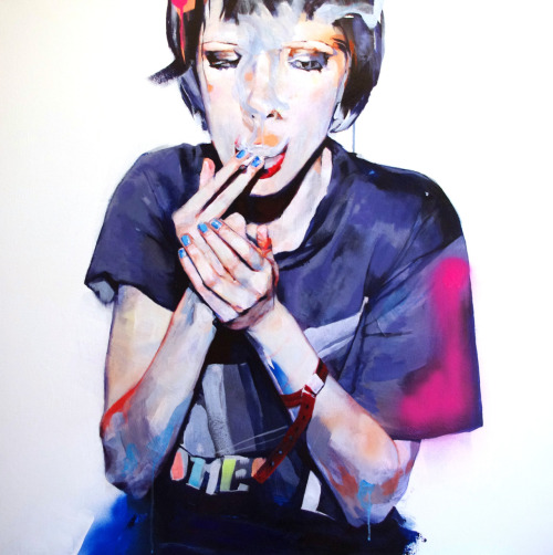 adrienpatout:  Alice, 2011, acrylic on canvas, 100 x100 cm.