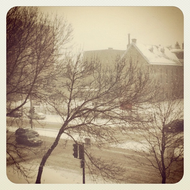 Montreal snow  - Taken with instagram