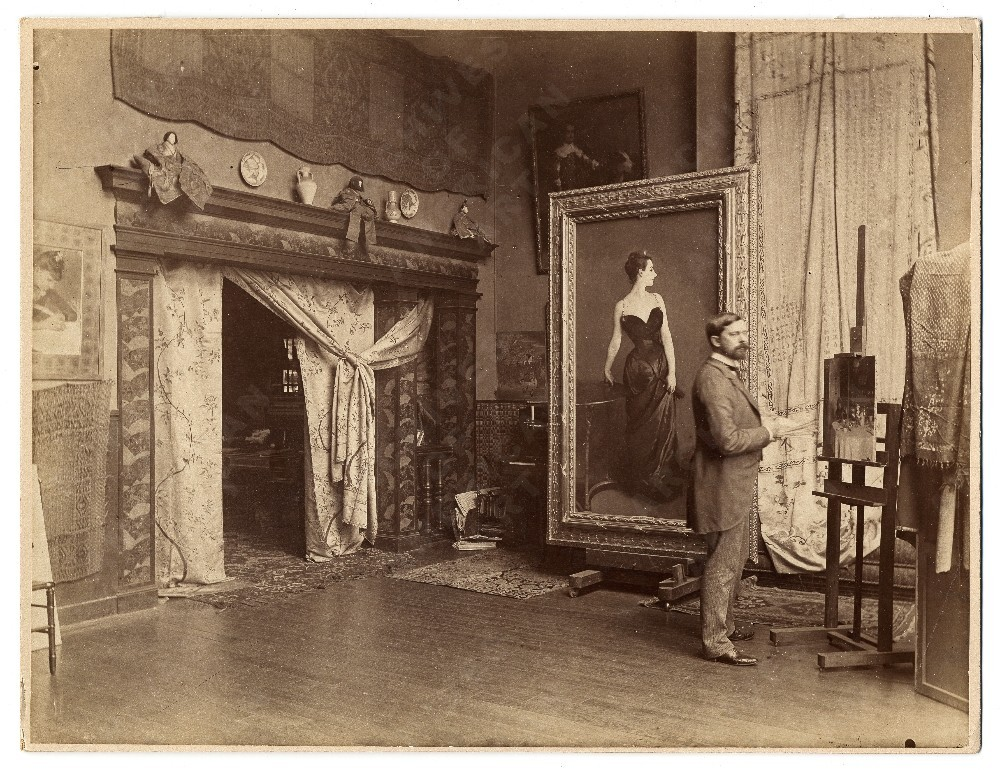 sjloves:  (via John Singer Sargent in his studio, from the Photographs of artists in their Paris studios - Image Gallery Viewer | Archives of American Art, Smithsonian Institution)