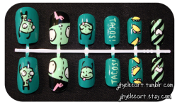 TACOS! A custom set by a client who wanted a Gir-themed set :D Hope you liked it, hun! JihyeLeeArt @ Etsy