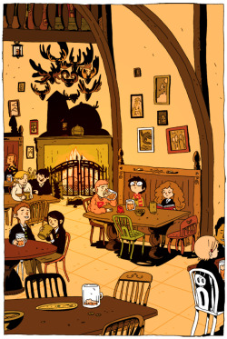 drawstin:  The Three Broomsticks, Zac Gorman