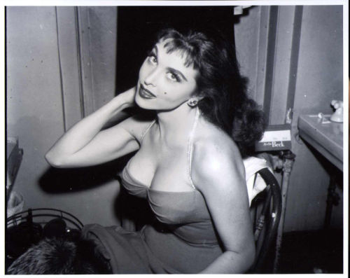 Tina Louise, in her dressing room for the Broadway musical L'il Abner, 1957, age 23.