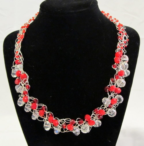 GREAT Valentine's Necklace at http://etsy.com/shop/Lalunacreations Many more styles available!