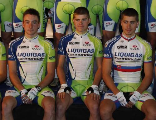The Sagan brothers Peter and Jurai alongside Elia Viviani at the Liquigas-Cannondale launch. (via The Sagan brothers Peter and Jurai alongside Elia Viviani at the Liquigas-Cannondale launch. Photos | Cyclingnews.com)