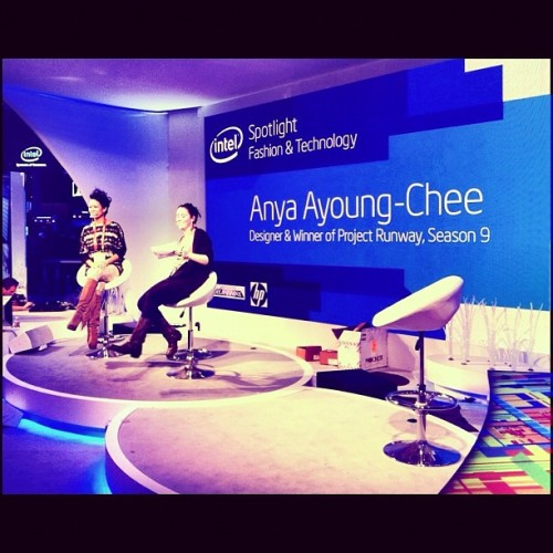It was great to have Anya at the Intel booth during CES!!  Stay tuned for more CES pics.