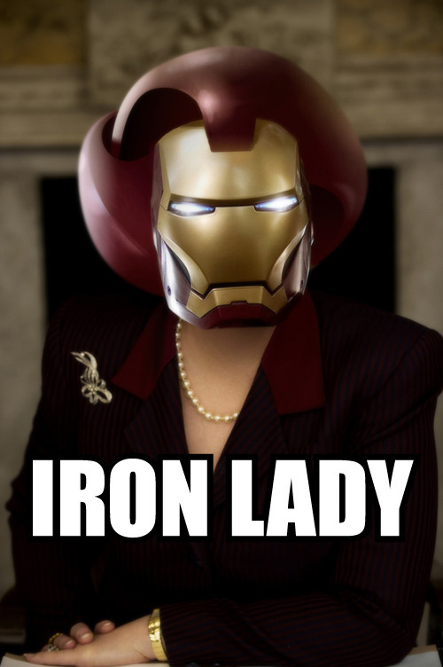 nparts:  Film Review: The Iron Lady She is Medusa with a head of auburn snakes shellacked into a helmet, but  somewhere beneath this follicular cement crown looms the elusive heart  of a human being — at least, that's how Meryl Streep plays Margaret  Thatcher, the still-vilified former British prime minister who waltzed  with Ronald Reagan while the masses rioted in revolt. Illustration by Steve Murray