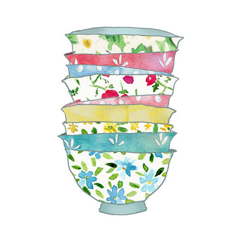 I love this teacup watercolor print! AGWT