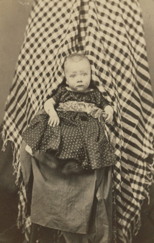 ca. 1860's, [portrait of a child on her mother's lap] via the KaufmaNelson Vintage Photograph Gallery