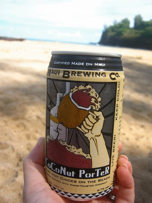 Coconut Porter - Enjoyed on the beach in Kauai on my simultaneous birthday & honeymoon - Kauai, Hawaii - October 2011