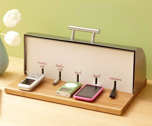 Convert a bread box into a charging station (via don't reinvent the wheel)