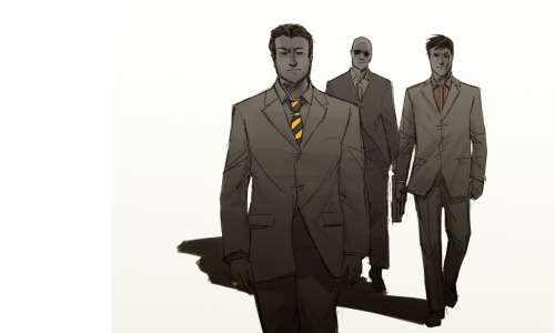 grey-sw:  winzler:  Chat idea: Clu, Rinzler, and Jarvis as mobsters. DO WE REALLY NEED A REASON [pose lifted from a Rob Lang photo]  ONE MORE TIME